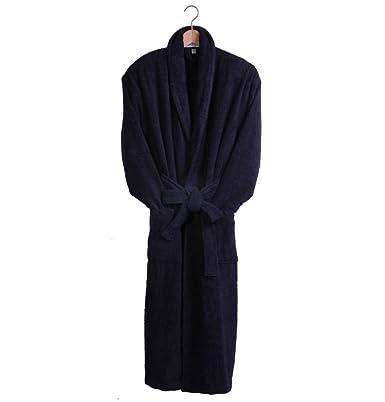 Bown Men s Dressing Gown Terry Cotton Bath Robe Navy Blue - M - 38 40 quot 91037d214