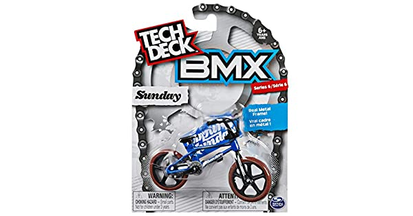 Amazon.com: Tech Deck – Dedo Bicicleta BMX – Domingo – Azul ...