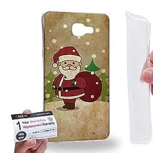 Case88 [Samsung Galaxy A9 (2016)] Gel TPU Carcasa/Funda & Tarjeta de garantía - Art Christmas Classics Vintage Christmas Santa Art1371