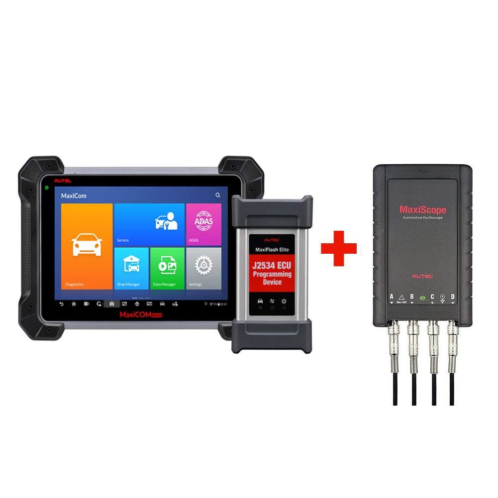 Autel MaxiCOM MK908P Diagnostic Scanner Automotive Scan Tool with ECU  Programming and J2534 Reprogramming + Free Oscilloscope MaxiScope MP408