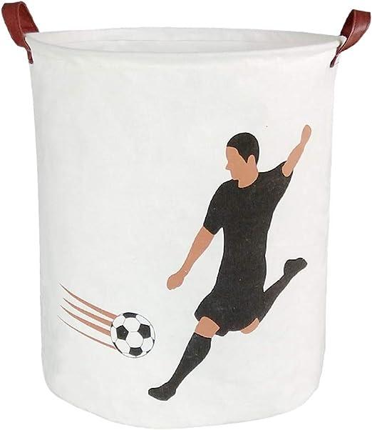 Cotton Fabric Storage Bin Collapsible Laundry Basket-Waterproof Toy Organizer