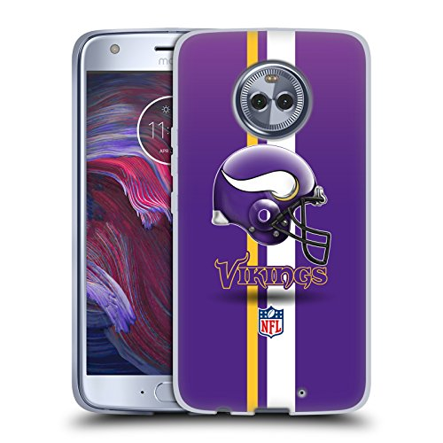 - Official NFL Helmet Minnesota Vikings Logo Soft Gel Case for Motorola Moto X4