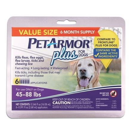 1 yr supply OF FLEA for Dogs 45-88 lbs, 3-Count