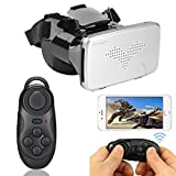 Atongm 3D VR Glasses Virtual Headset With Mouse Gamepad 2 in 1 Kit For 3.5 to 6 inch iOS, Android Smartphone