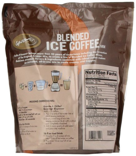 Frappe Freeze Ice Blended Coffee, Latte, 3-Pound