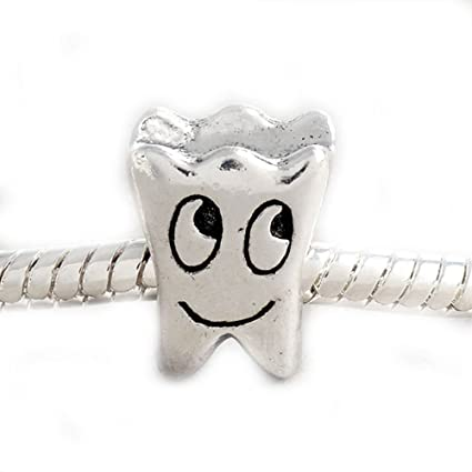 b08175937 Amazon.com: Buckets of Beads Smiling Tooth Charm Bead: Arts, Crafts & Sewing