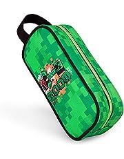 Minecraft Pennenetui jongen, Pencil Case Boys, Creeper Etui Jongen, School Jongen Cadeau (Groen)