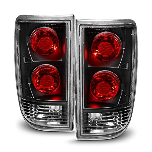 ACANII - For Black 1995-2005 Chevy Blazer GMC Jimmy S10 Tail Lights Brake Lamps Aftermarket Driver & Passenger Side