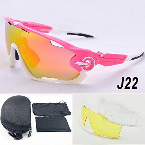 46b1263e04 Lepakshi Jlt22  3 Lens Brand Designer Jaw Breaker Cycling Glasses Eyewear  Tr90 Men Women Outdoor Sports Bike Bicycle Cycling Sunglasses Goggles   Amazon.in  ...