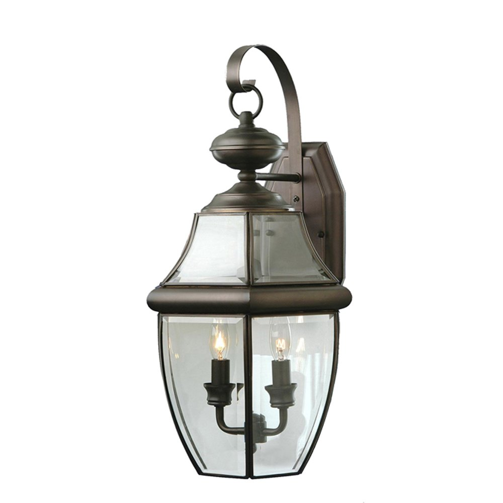 Outdoor led wall lantern olde bronze wall porch lights amazon com - Trans Globe Lighting 4320 Bn Outdoor Courtyard 20 5 Wall Lantern Brushed Nickel Wall Porch Lights Amazon Com