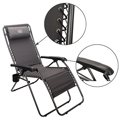 Timber Ridge Oversized Zero Gravity Chair Black 300
