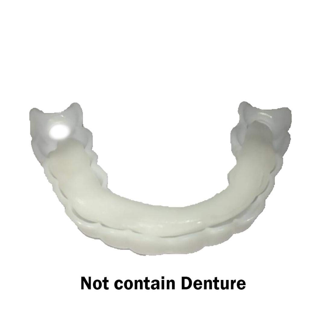 Rambling CosmeticTeeth Denture, Prefectly Temporary Smile Comfort Fit with Teeth Cosmetic Sticker (2Pc Adhesive) by Rambling (Image #4)