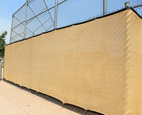Heavy Duty 6 ft. X 50 ft. Privacy Windscreen Fence Screen Mesh Tarps W/Binding and Grommets (1, (Fence Screen Mesh)