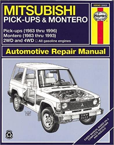 Mitsubishi pickup montero 8396 haynes repair manuals haynes mitsubishi pickup montero 8396 haynes repair manuals 1st edition fandeluxe Images