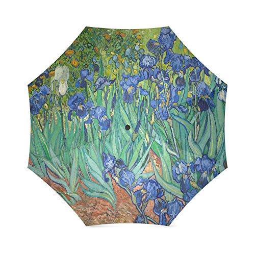 Irises By Vincent Van Gogh, Christmas Gift Folding Rain Umbrella/Parasol/Sun Umbrella