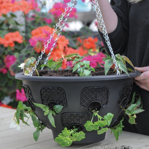 DPNY Pack Of 2 Silver Zinc Hanging Basket Chain 18' Garden Decor