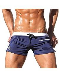 Mens Sexy Swim Briefs Shorts Trunks with Pocket