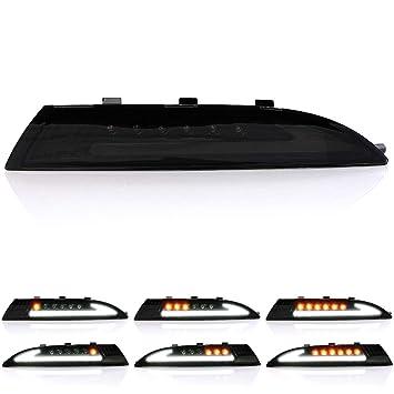 Carparts-Online 29996 Klarglas LED Blinker mit Standlicht schwarz smoke