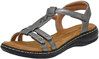 Cushionaire Women's Bamboo Comfort Footbed Sandal with +Comfort