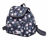 MIETTE Small Backpack Purse Flap Bag | Fits iPad Mini | 11''x9.8''x5.1 | Grey Roses