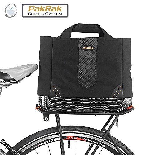 Price comparison product image Ibera 2 in 1 Bike PakRak Insulated Cooler Trunk Bag, Bicycle Shopping Bag for Grocery, Hand/ Shoulder Bag