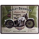 Harley-Davidson Plaque en métal Knucklehead, 40 x 30 cm