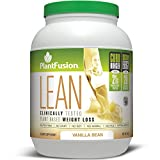 PlantFusion Lean Plant Based Weight Loss Protein Powder, Vanilla Bean, 29.06 oz Tub, 20 Servings, 1 Count, Gluten Free, Vegan, Non-GMO
