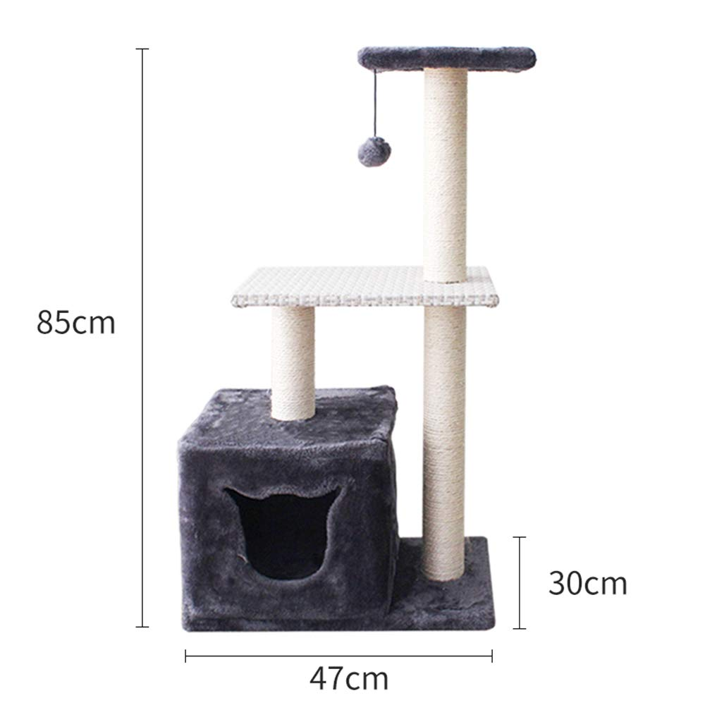 L YUHAO Cat Towers and Condos, Cat Tree with Scraper Slope, Cat Climbing Tower(L)