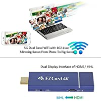 EZCast D2 4K TV Dongle Wireless Dual Band 2.4GHz 5GHz WiFi HDMI DLNA Miracast Display Airplay Receiver