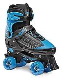 Roces 550046 Men's Model Quaddy 1.0 Roller Skate, US 13jr-2, Black/Blue
