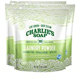 Charlie's Soap Laundry Powder (300 Loads, 4 Pack) Hypoallergenic Deep Cleaning Washing Powder Detergent - Eco-Friendly, Safe, and Effective
