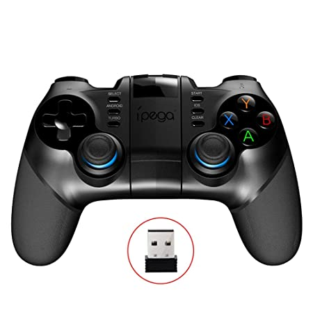 TOONEV Bluetooth Mobile Phone Game Controller for iOS Compatible with  iPhone/iPod/iPad/Mac/Apple TV Without Activation and APP Needed (PC Game