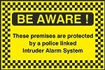 GB 20cmx13.3cm Protected By Police Li...