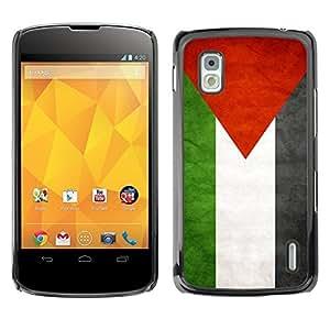 Shell-Star ( National Flag Series-Palestine ) Snap On Hard Protective Case For LG Google NEXUS 4 / Mako / E960