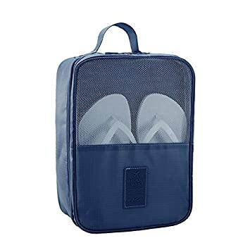 f98e745872ad Orpio Waterproof Travelling Shoe Storage Bag / Footwear Organiser Pouch /  Portable Shoes Storage Bag / shoes bag for travel for Men and Women (Blue)