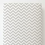 Carousel Designs French Gray Chevron Toddler Bed Sheet Fitted