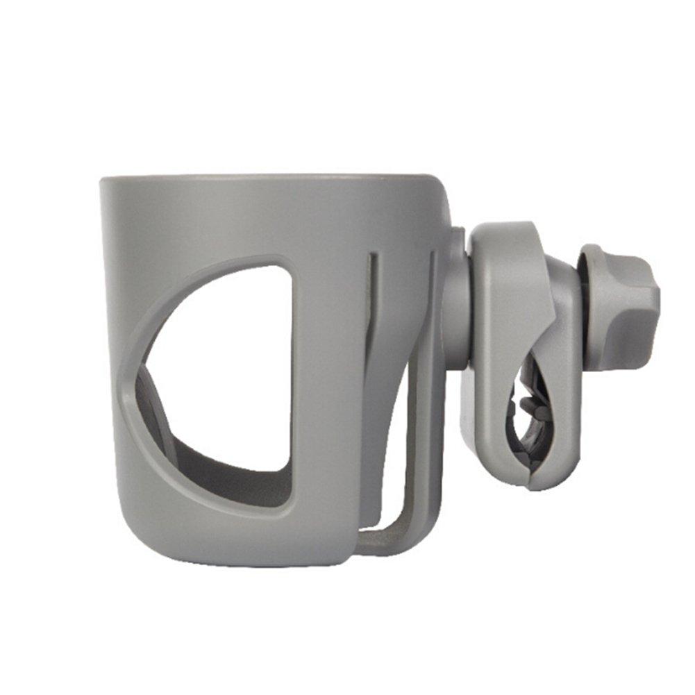 Bike Cup Holder Stroller Bottle Holders 360 Degrees Rotation Anti-Slip Cup Drink Holder for Baby Stroller, Pushchair, Bicycle (Grey)