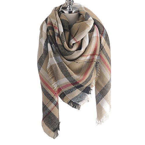 RACHAPE Large Tartan Fashion Women Blanket Scarf Lovely Gift Plaid Wrap Shawl