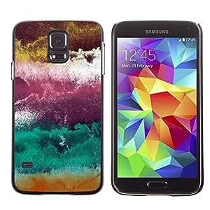 X-ray Impreso colorido protector duro espalda Funda piel de Shell para SAMSUNG Galaxy S5 V / i9600 / SM-G900F / SM-G900M / SM-G900A / SM-G900T / SM-G900W8 - Plum Purple Abstract Clouds Art