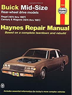 Oldsmobile cutlass 7488 haynes repair manuals haynes buick mid size rear wheel drive models 1974 thru 1987 v6 and v8 regal fandeluxe Gallery