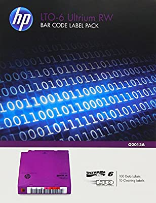 HP LTO-6 Ultrium RW Bar Code Label Pack from Hewlett Packard - Media 7a