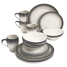 sc 1 st  Amazon.com & Swirl Ombre 16-Piece Ironstone Dinnerware Set: Amazon.com: Books