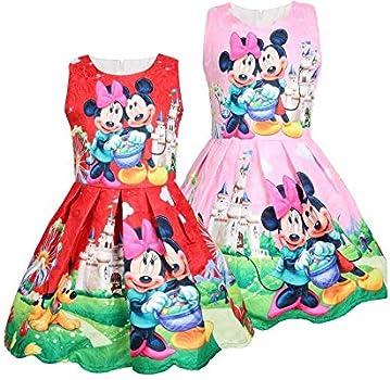 GIO478 Vestido Minnie Mouse Casual Bautizo Boda Fiesta ...