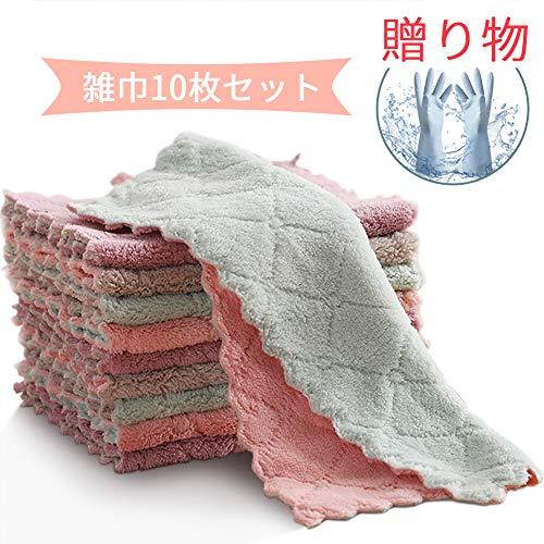 [해외]Wisptime 걸 레 행 주 걸 레 키 친 크로스 세제 필요 없이 격 떨어뜨려 크로스 주방용 가정용 청소 부엌 두꺼운 10 매 (선물: 주방 장갑) / Wisptime Rag Fukino Kitchen Cloth Detergent No Need For Falling Cloth Tableware Household Cleaning K...