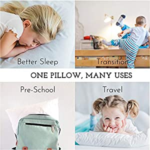 Youth Pillow – 16 X 22 – Soft & Hypoallergenic – Made in USA – Better Sleep for Kids – Perfect Size – Backed by Our Love The Fluff Guarantee