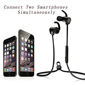 Bluesim Wireless Bluetooth 4.1 Headphones, In-ear Earphones with Microphone, Lightweight Headset