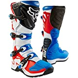 Fox Racing Comp 5 SE Men's Off-Road Motorcycle Boots - Blue/Red / Size 8