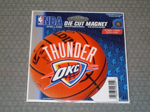 WinCraft Oklahoma City Thunder Official NBA 4.5 inch x 6 inch Car Magnet by 293459 by WinCraft