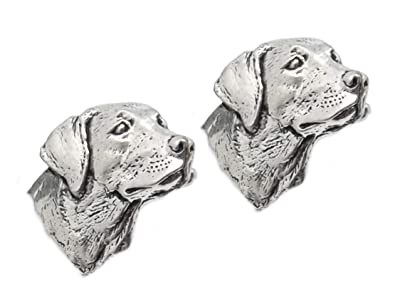 Silver Pewter Labrador Dog Key Ring Chain Mens Shooting Gift CUFFLINKS DIRECT