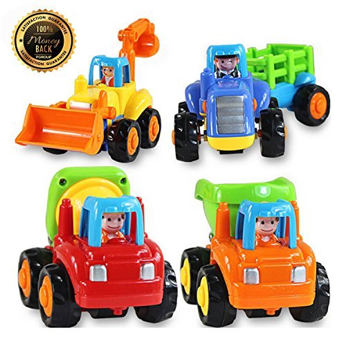 Cement Truck – Bulldozer – Tructor – Unloading Car - Cars and Truck Toys Playing with Sand Original Box Kids Beach Baby Toy Pull Back 4pcs/Lot